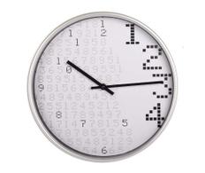 Ceas de perete Pixels alb