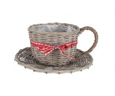 Ghiveci Wooden Cup Grey 2