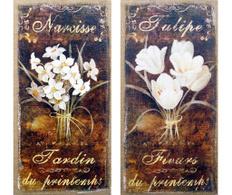 Set 2 tablouri Narcisse&Tulipe