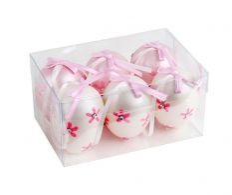 Set de 6 oua decorative  Pink Flowers
