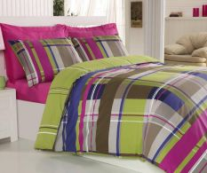 Posteljina Ranforce Double Colorful Checked