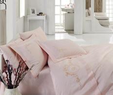 Posteljina s vezom Double Premium Pink Flower