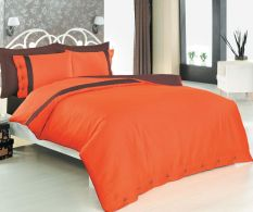 Posteljina Double Premium Satinata Orange Buttons