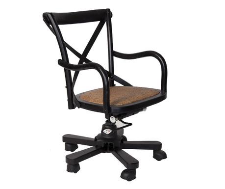 Otočná židle Industrial Black