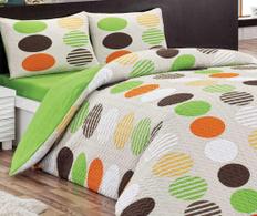 Set de pat matlasat dublu  Elips Green