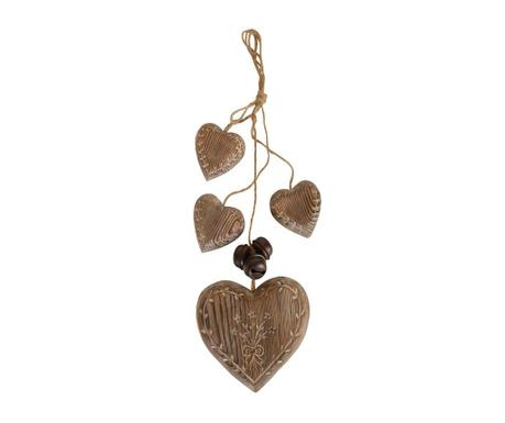 Viseča dekoracija Four Hearts