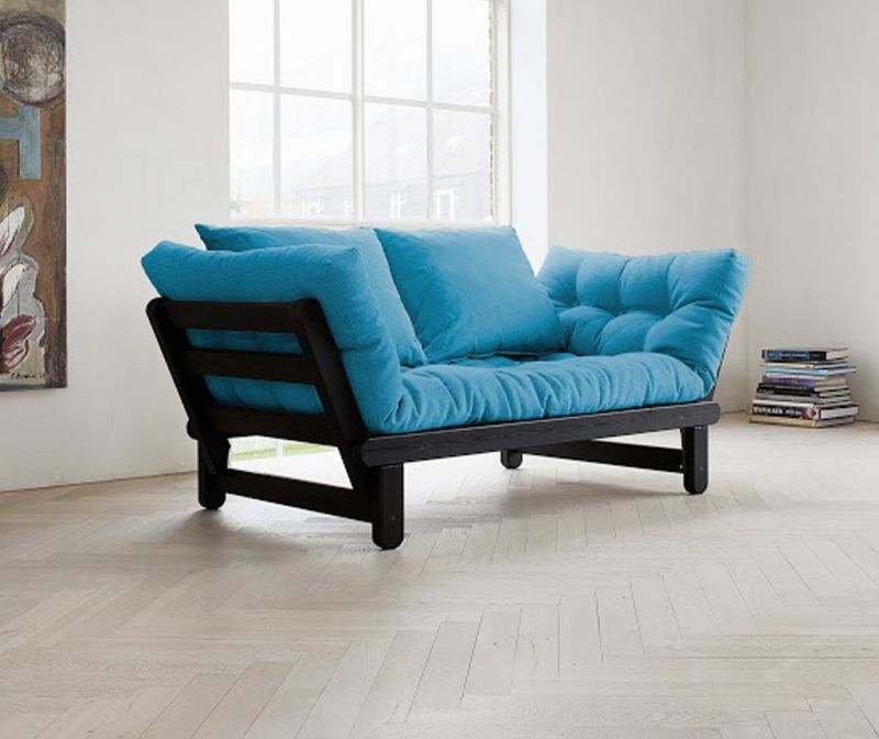 Sofa extensibila Beat Black and Horizon Blue