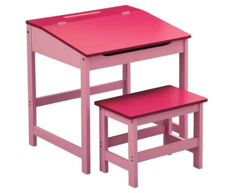Set otroška pisalna miza in stol Julyan Pink