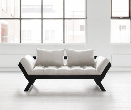 Kauč na razvlačenje Bebop Black & Natural 75x200 cm