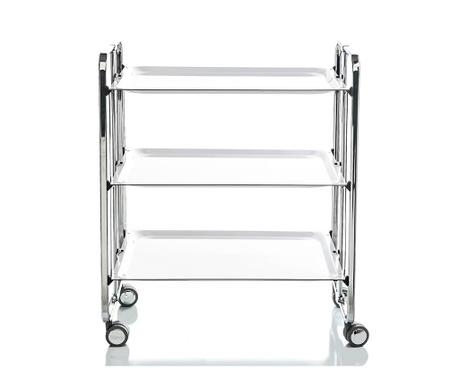 Sklopiva kolica za posluživanje Star Maxi Silver White