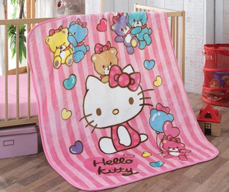 Lezárult akció Hello Kitty Bear Takaró gyerekeknek 100x120 cm c25ab24e6d