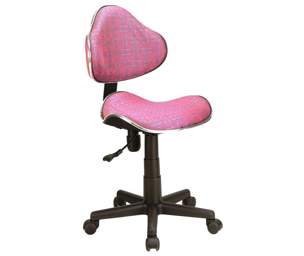Scaun de birou pentru copii Checkers Pink