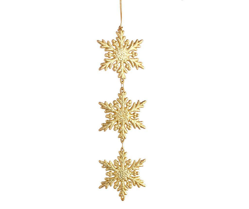 Viseča dekoracija Snowflake Triple Gold