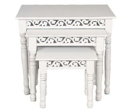 Set of 3 side tables Calypso