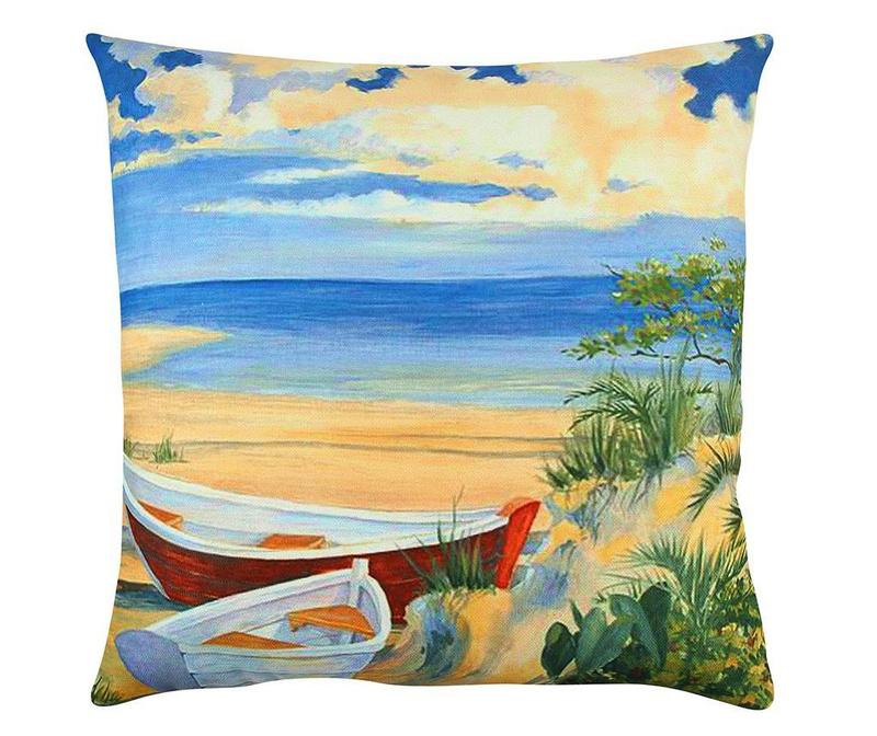 Perna decorativa Peaceful Beach 43x43 cm