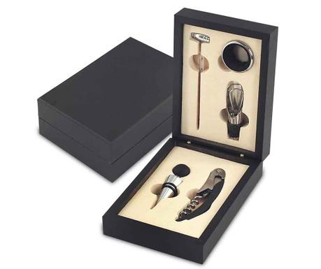 Set of 5 wine accessories and box Wine