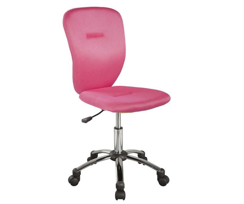 Otroški pisarniški stol Smooth Pink