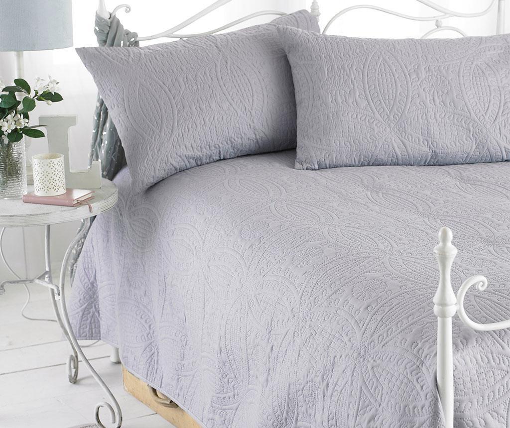 Set cuvertura matlasata King Parisienne Grey