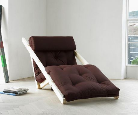 Ležaljka na razvlačenje za dnevni boravak Figo Raw & Brown 70x200 cm