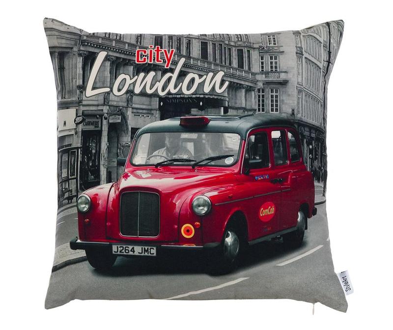 Fata de perna London Red 43x43 cm