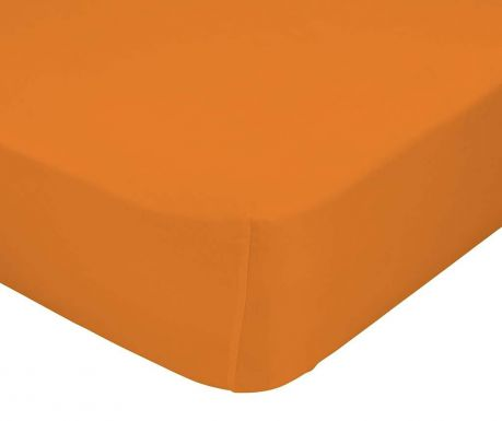 Cearsaf de pat cu elastic Basic Orange