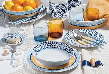 Geometrie colorata in dining