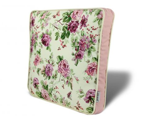 Seat cushion Flowers Pink 42x42 cm