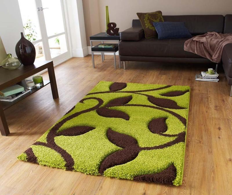 Preproga Fashion Green and Brown 220x160 cm