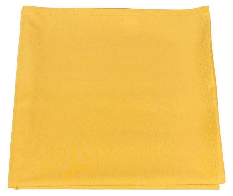 Fata de masa Thoughts Yellow 170x170 cm