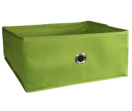 Kosz do przechowywania Kos Half Cube Green