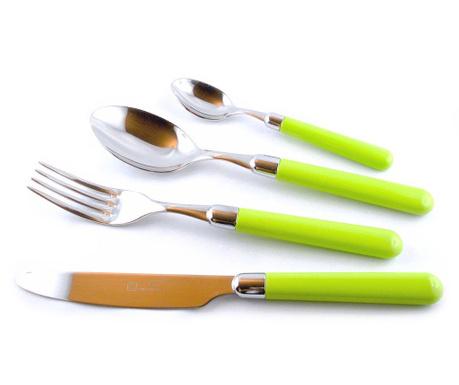 Комплект прибори за хранене 24 части Pastello  Green
