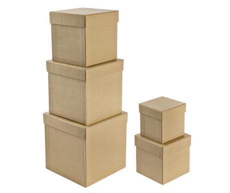 Plain Cube 5 db Festhető doboz fedővel