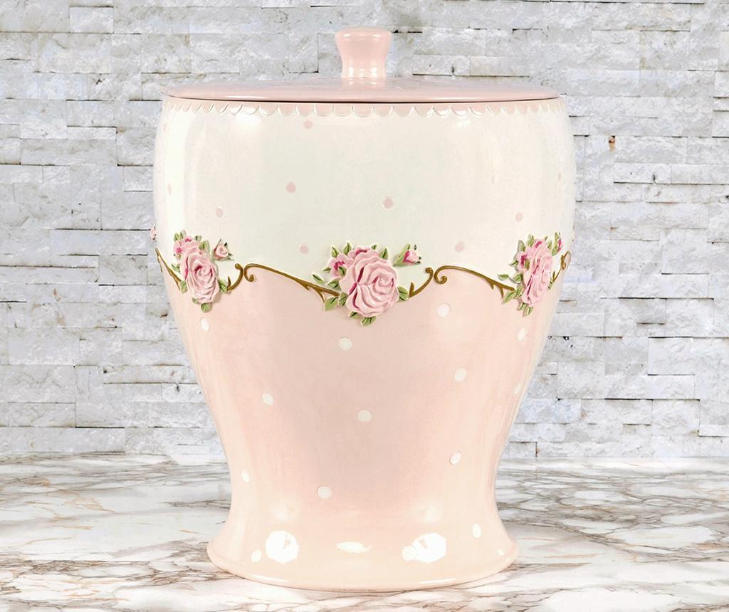 Cos de gunoi cu capac Lavinya Pink 3 L