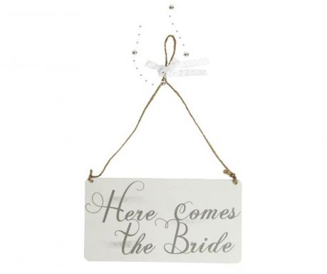 Nástenná dekorácia Here comes the Bride