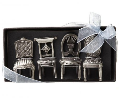 Sada 4 podstavcov na stolové menovky Wedding Chairs