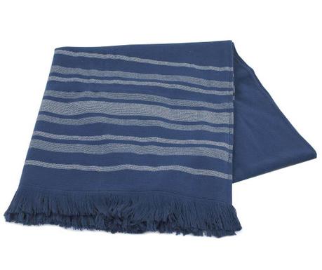 Pestemal bath towel Lines Navy 70x170 cm