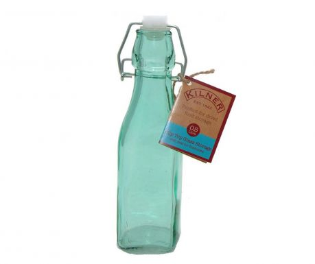 Bottle with airtight stopper Kilner Clip Square Blue 250 ml