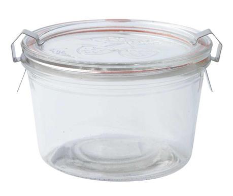 Dóza s hermetickým vekom Strawberries Clear 400 ml