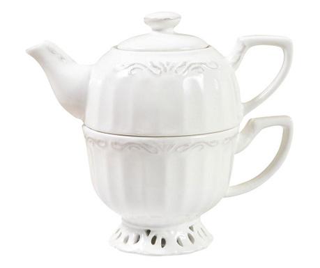 Sada čajník s víkem a šálkem Finny
