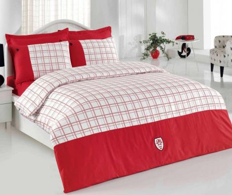 Lenjerie de pat Single Supreme Satin Single Hobbs Red