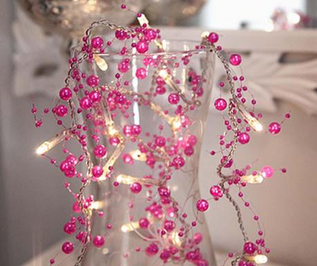 Girlanda świetlna Pearl Pink