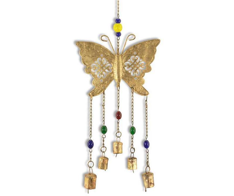 Zvončki na veter Gold Butterfly