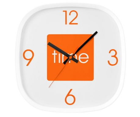 Стенен часовник Arco Orange