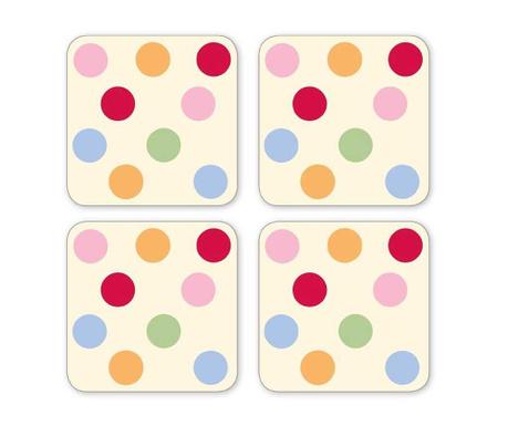 Color Baubles 4 db Poháralátét