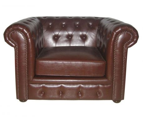 Fotel Chesterfield Brown