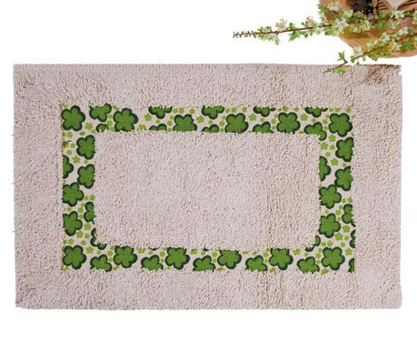 Dywanik łazienkowy Petals Green 40x60 cm