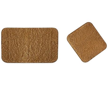 Zestaw 2 dywaników łazienkowych Flick Caramel