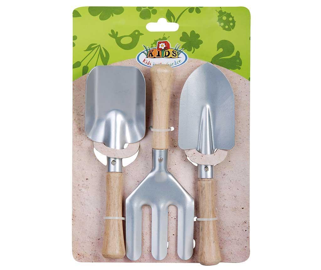 Комплект детски градински интрументи 3 части Handy Silver