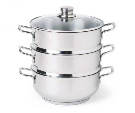Set lonac sa poklopcem i 2 sita za kuhanje na pari Cous Cous