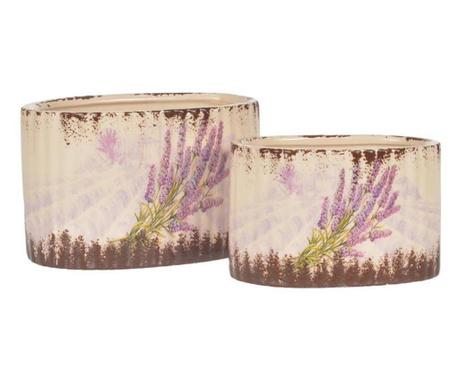 Lavender Field 2 darab Virágcserép